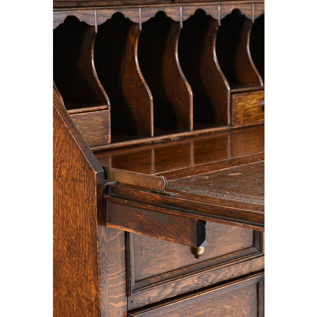 19th Century Jacobean-style Drop-Front Desk For Sale - Image 9 of 10