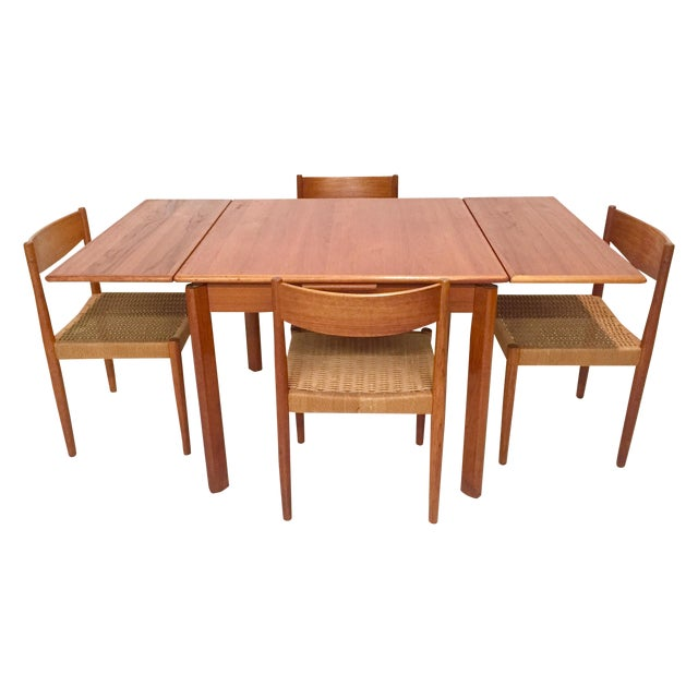 1960s Danish Mid-Century Modern Teak Dining Set - Image 1 of 11