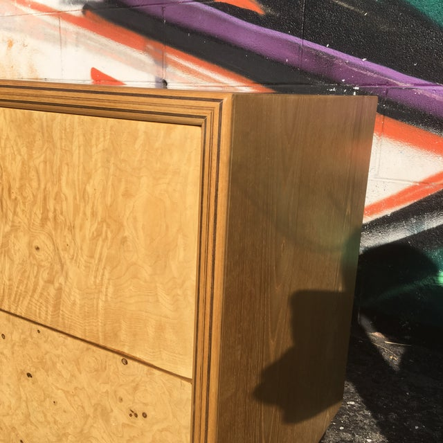 Brown Burlwood Nightstands by Henredon-a Pair For Sale - Image 8 of 12