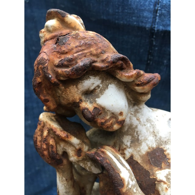 French Art Nouveau Garden Statue For Sale - Image 10 of 11