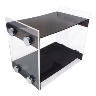 Acrylic Side table attributed to Vladimir Kagan