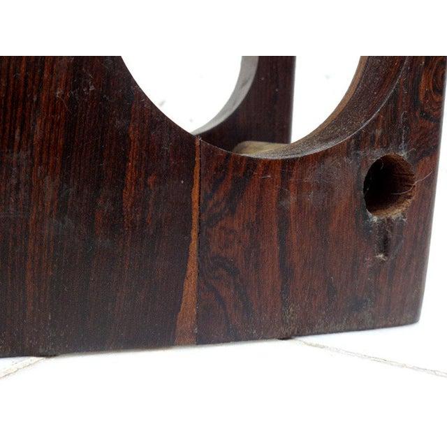 Brown Vintage Cocobolo Wine Rack For Sale - Image 8 of 8