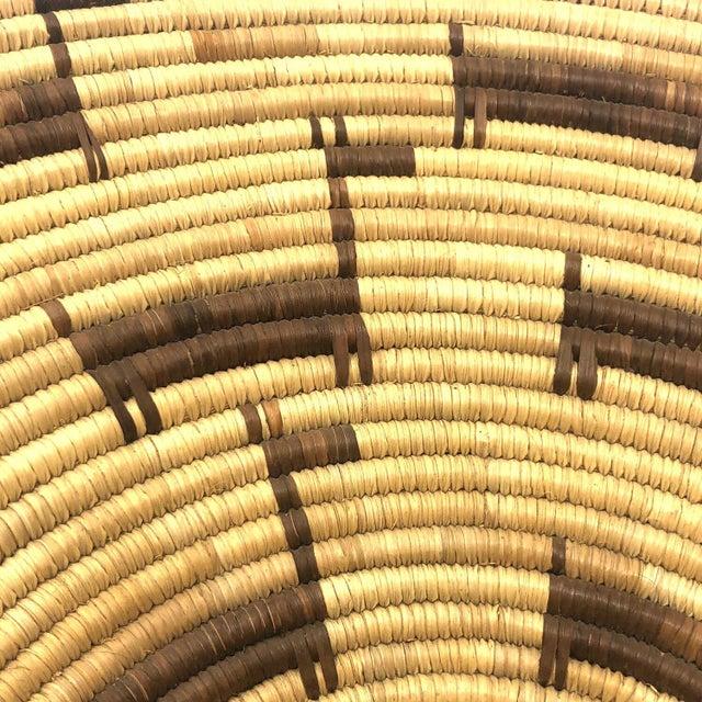 African African Deer Motif Woven Basket For Sale - Image 3 of 10