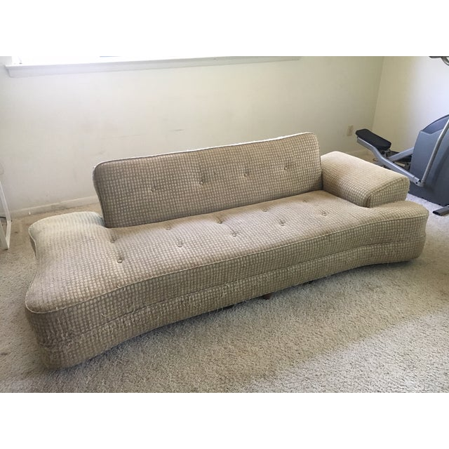 1950's Mid-Century Convertible Dog Bone Sofa-Final Markdown For Sale - Image 9 of 9