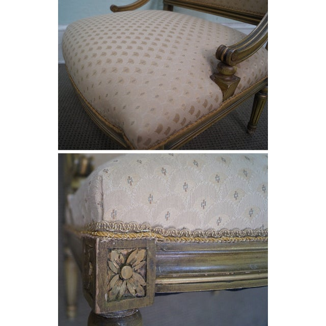 Quality French Louis XV Painted Slipper Chairs - 2 For Sale - Image 10 of 10