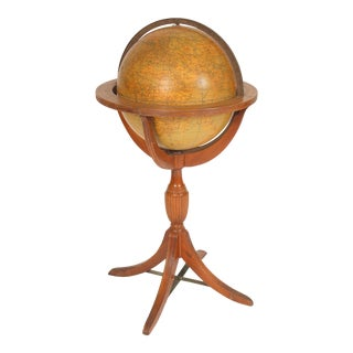 """George III Style 16"""" Crams Terrestrial Globe on Stand For Sale"""