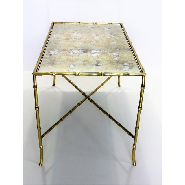 Maison Bagues French Brass Bamboo Coffee Table - Image 6 of 11