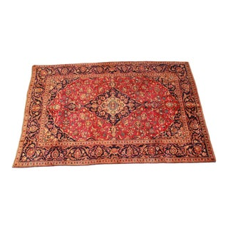 "Vintage Hand-Woven Persian Rug - 6'5"" X 9'10"" For Sale"