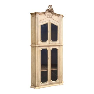 19th Century Country French Corner Bookcase ~ Vitrine For Sale