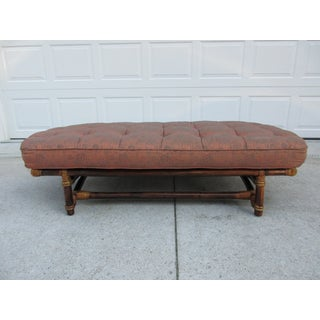 Vintage Mid Century Ficks Reed Bamboo and Rattan Bench or Dog Bed Preview