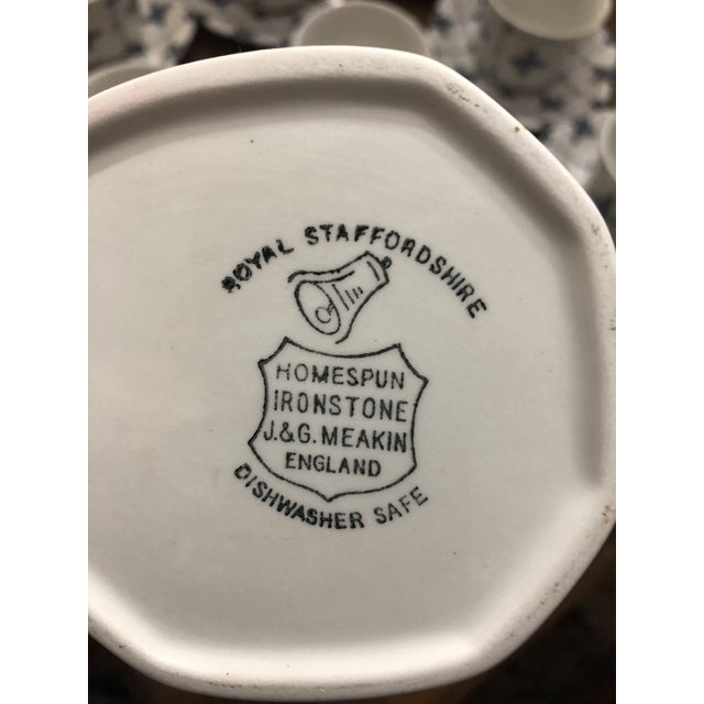 """Royal Staffordshire """"Homespun"""" Ironstone by Meakin - 18 Pieces For Sale In New Orleans - Image 6 of 8"""