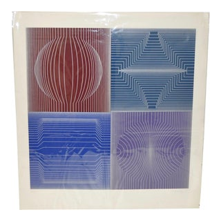 Victor Vasarely Limited Edition Op-Art Silkscreen C.1970s For Sale
