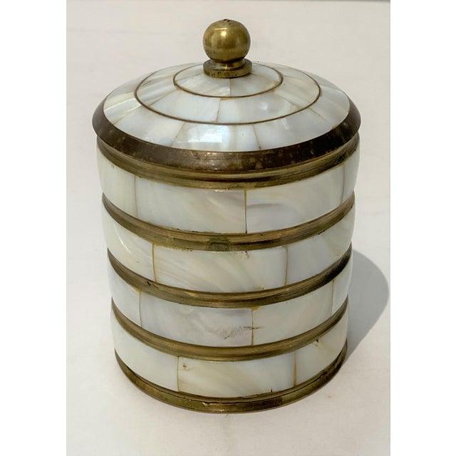 Vintage Trinket Box Mother-Of-Pearl For Sale - Image 9 of 9