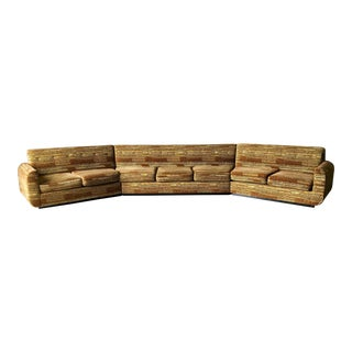 1950s Danish Modern Champagne Sectional Sofa For Sale