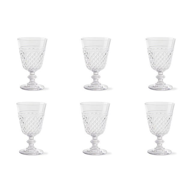 Kenneth Ludwig Chicago Kenneth Ludwig Chicago Villa Acrylic Wine Glasses - Set of 6 For Sale - Image 4 of 4