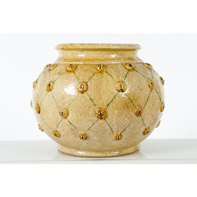 Mid 20th Century Mid-Century Dolfi Glazed Ceramic Planter For Sale - Image 5 of 5