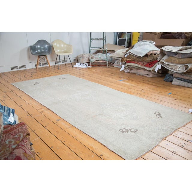 "Distressed Oushak Runner - 4'7"" X 10'8"" - Image 2 of 9"