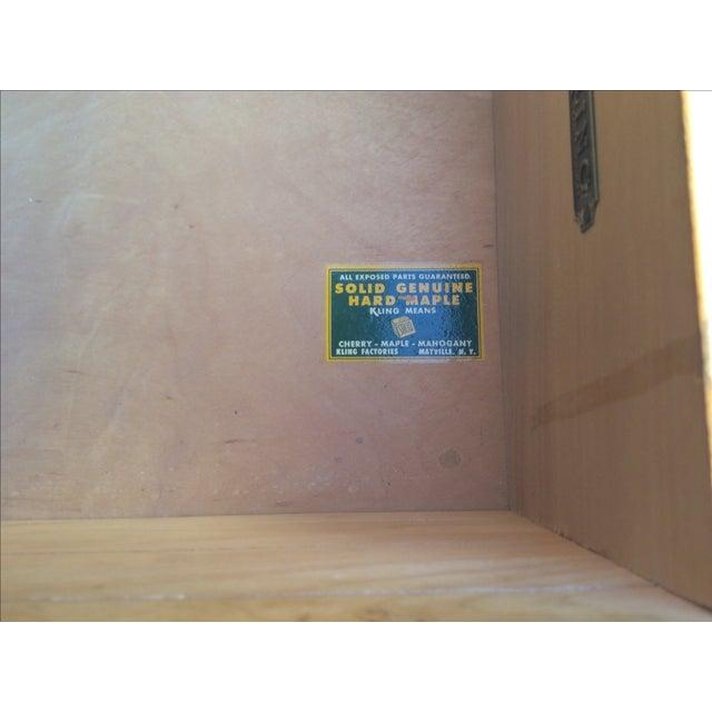 Mid-Century Modern Kling Mid-Century Maple Dresser For Sale - Image 3 of 5