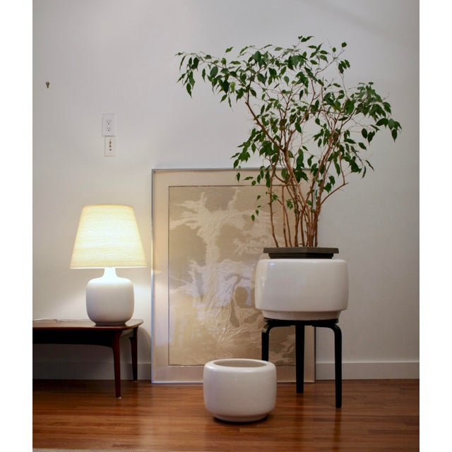 """Iconic and modern Architectural Pottery """"tire planter"""" designed by John Follis and Rex Goode. Beautiful, massive piece..."""