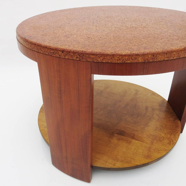 Art Deco Cork Topped Occasional Table For Sale - Image 3 of 7