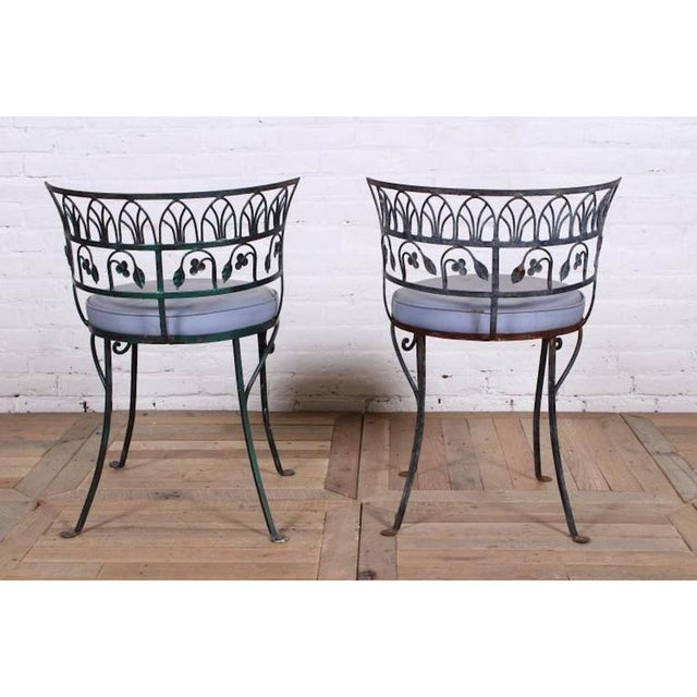 Pair of Grand Tour Style Salterini Garden Chairs, after the Greek Antique - Image 4 of 6