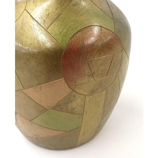 Unique Chinese Vintage Patchwork Ceramic Vase - Image 6 of 9