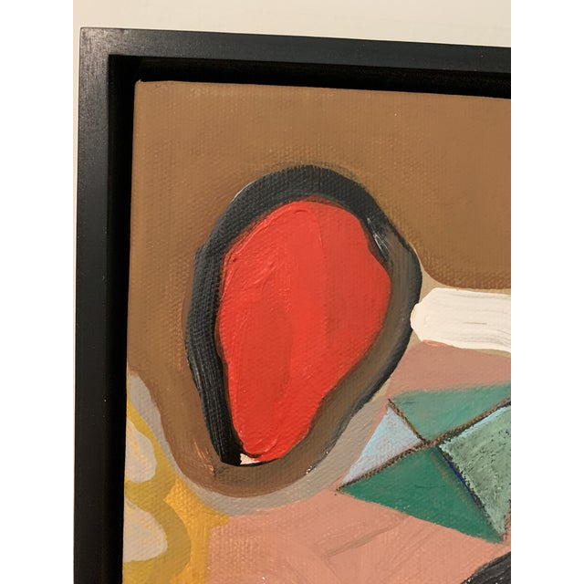 Black Floater Framed Contemporary Abstract Original Painting For Sale In Dallas - Image 6 of 10