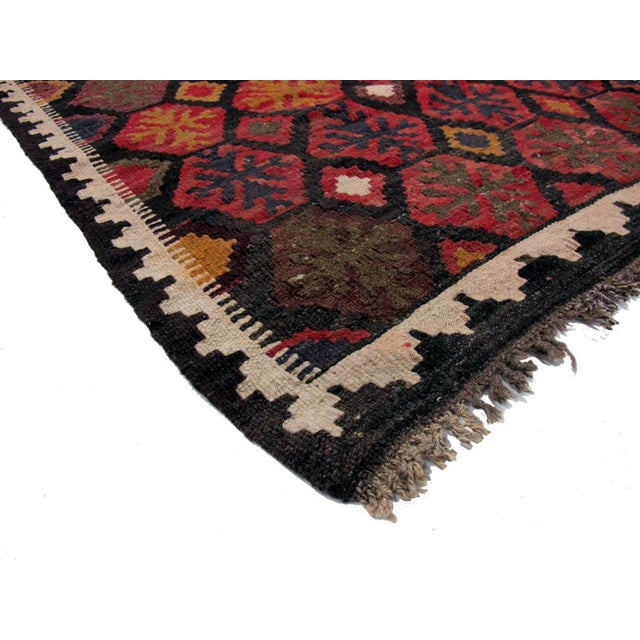 "Afghan Vintage Afghan Brown Kilim Rug - 2'9"" x 11'6"" For Sale - Image 3 of 3"