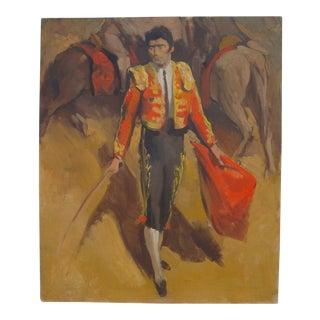 Midcentury Portrait of a Matador, Edmund Ward For Sale