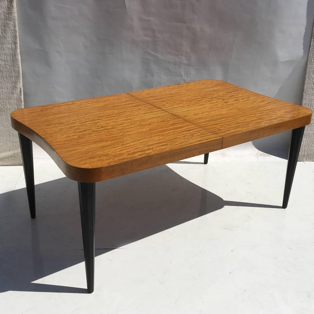 """Art Deco Gilbert Rohde Art Deco """"Paldao"""" Dining Room Set for Herman Miller, Seats Eight For Sale - Image 3 of 10"""