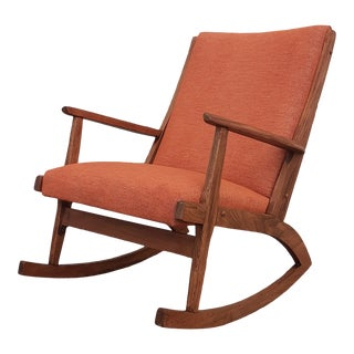 Mid Century Modern Boomerang Rocking Chair For Sale