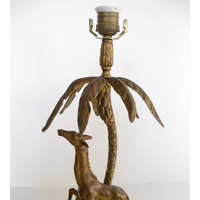 Gold Figural Bronze table lamp For Sale - Image 8 of 8