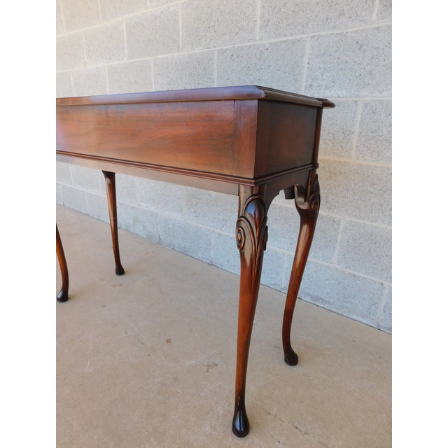 """Brown Kittinger Georgian Style Mahogany Console Accent Table 38.25""""w For Sale - Image 8 of 13"""
