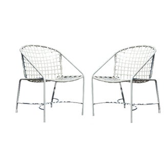 Mid-Century Modern Pair of Brown Jordan Kantan Patio Dining Chairs, 1960s For Sale