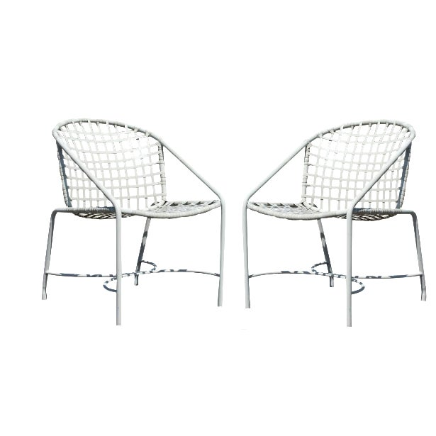 Mid-Century Modern Pair of Brown Jordan Kantan Patio Dining Chairs, 1960s For Sale