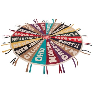 Folk Art Felt Pennant Medallion For Sale