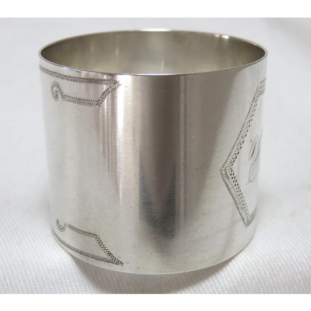 Late 19th Century 1800's Antique Sterling Silver Napkin Ring For Sale - Image 5 of 6