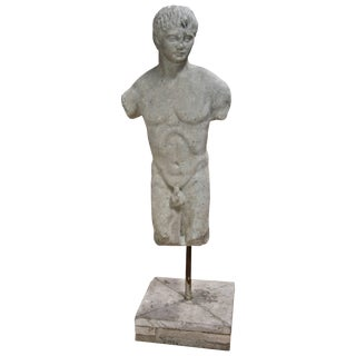 """Roman """"Efebo"""" 19th Century Marble Sculpture For Sale"""