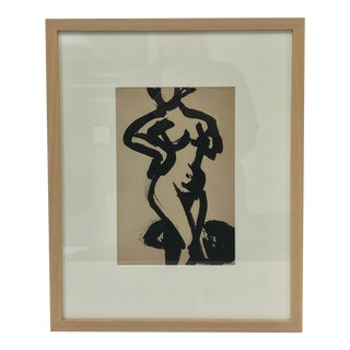 Black and White Nude Study For Sale