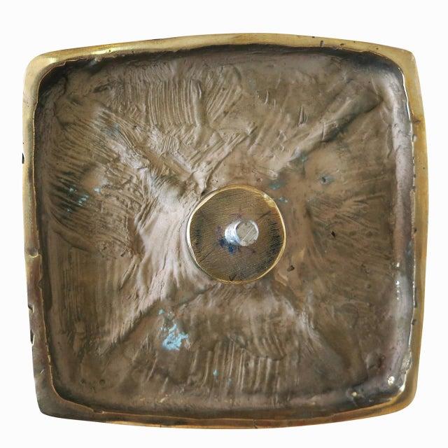 Paul Evans-Style Brutalist Bronze Door Handles - Set of 4 - Image 4 of 4