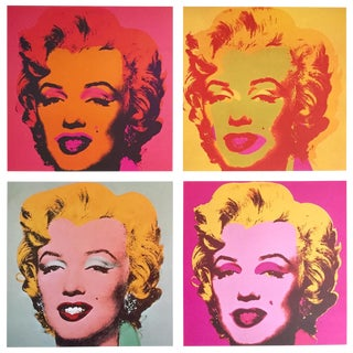 """Andy Warhol Vintage 1989 Collector's Pop Art Lithograph Print """" Four Marilyns """" 1964/67 For Sale"""