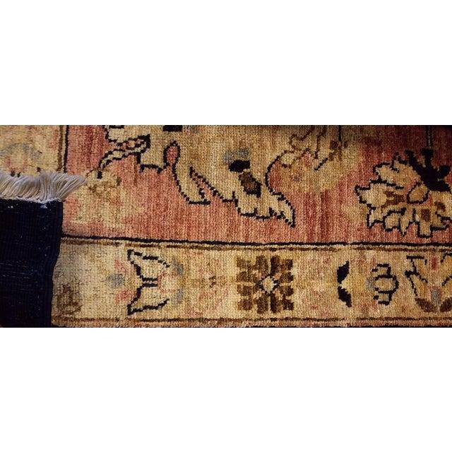 "Kafkaz Peshawar Hope Blue & Pink Wool Rug - 9'9"" x 13'4"" For Sale In New York - Image 6 of 7"