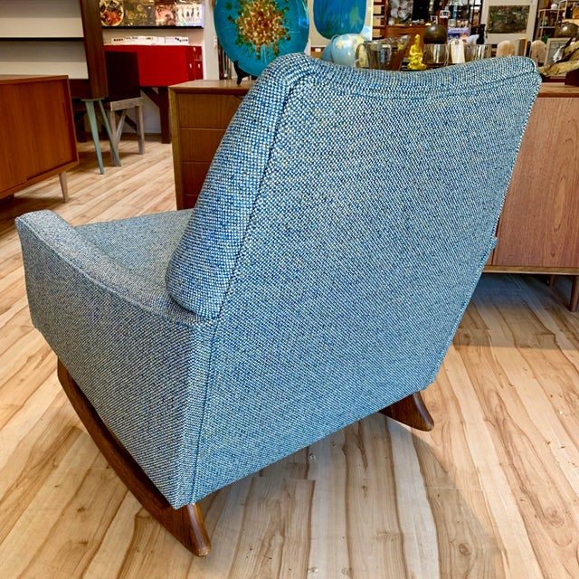 Mid 20th Century Vintage Mid-Century Adrian Pearsall for Craft Associates Rocking Chair For Sale - Image 5 of 11