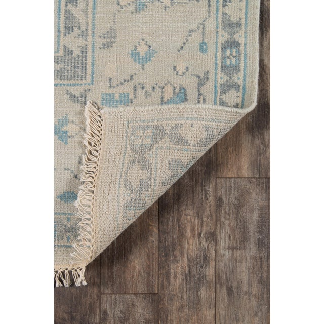 """2010s Erin Gates Concord Lowell Ivory Hand Knotted Wool Area Rug 5'6"""" X 8'6"""" For Sale - Image 5 of 7"""