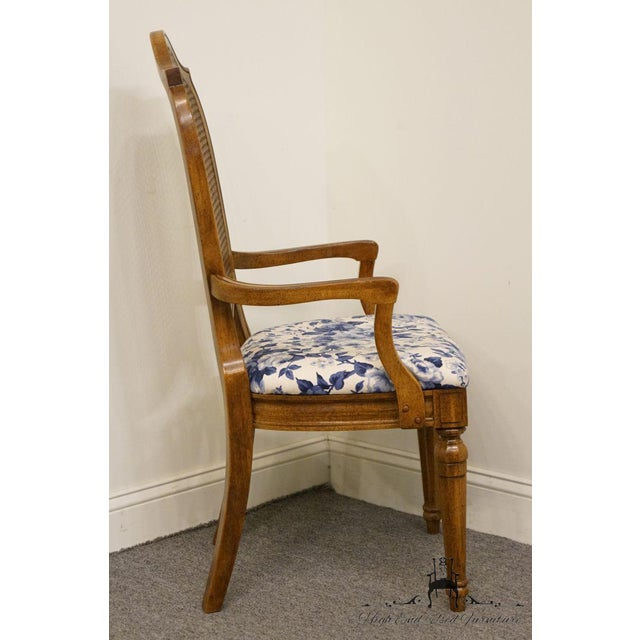 Brown Thomasville Furniture Tapestry Collection Cane Back Dining Arm Chair For Sale - Image 8 of 13