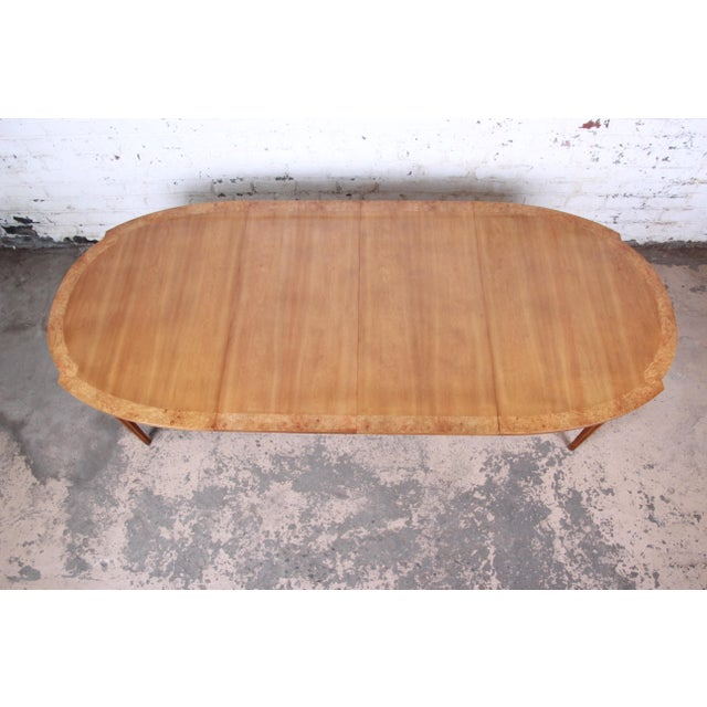 Wood Romweber Mid-Century Modern Cherry and Burl Wood Dining Set, 1960s - Set of 7 For Sale - Image 7 of 13