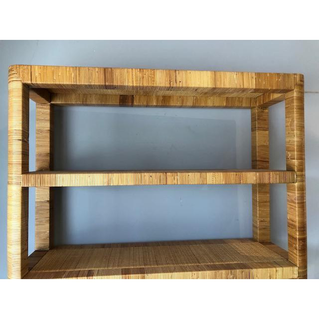 1980s 1980s Boho Chic Bielecky Brothers Woven Bookshelf For Sale - Image 5 of 11