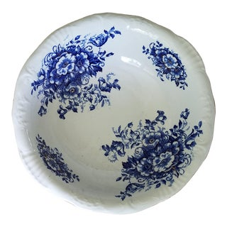 19th Century Floral Blue with Gold Inlay Bowl For Sale