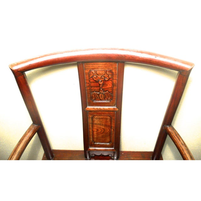 Antique Chinese Ming Arm Chair For Sale - Image 4 of 9