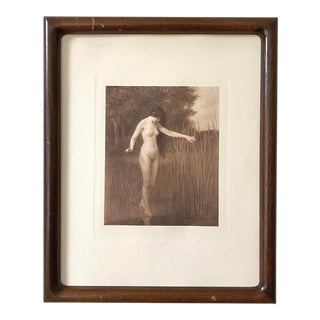 Late 19th Century Benjamin R. Fritz 'The Reflection' Aquatint, Framed For Sale
